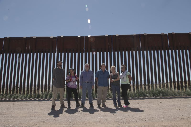 Borderland cast at AZ-Mexico border